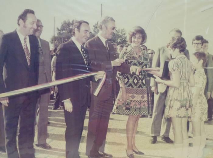 Patrice Gautier lors de l'inauguration du site de Chantonnay - 1972